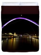 Newcastle Quayside And Sage Gateshead Duvet Cover