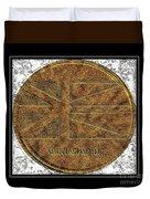 Newfoundland Flag - Brass Etching Duvet Cover