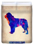 Newfoundland Poster Duvet Cover by Naxart Studio