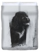 Newfoundland Puppy Duvet Cover