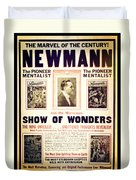 Newmann And His Show Of Wonders  Duvet Cover