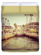 Newport Beach Balboa Island Ferry Dock Photo Duvet Cover