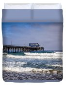 Newport Beach Pier In Orange County California Duvet Cover by Paul Velgos