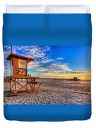 Newport Beach Pier - Wintertime  Duvet Cover