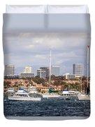 Newport Beach Skyline  Duvet Cover