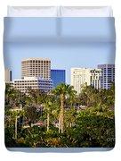 Newport Beach Skyline Picture Duvet Cover