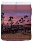 Newport Beach Sunset Duvet Cover