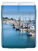 Newport Fishing Fleet  Duvet Cover