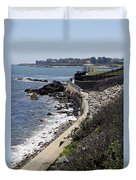 Newport's Cliff Walk View Duvet Cover