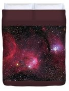 Ngc 3293, The Gem Cluster And Gabriela Duvet Cover