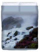 Niagara Falls At A Different Point Of View Duvet Cover