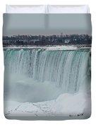 Niagara Falls Canada In Winter Duvet Cover