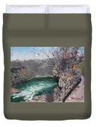 Niagara Falls Gorge Duvet Cover