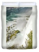 Niagara Falls On The Rocks Duvet Cover