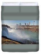Niagara Falls Panorama Duvet Cover