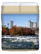 Niagara Falls Skyline From New York Duvet Cover