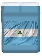 Nicaraguan Flag Duvet Cover by Les Cunliffe