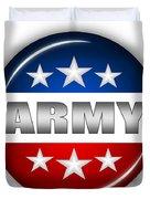 Nice Army Shield Duvet Cover by Pamela Johnson