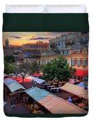 Nice Flower Market Duvet Cover