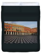 Nice France - The Cheerful Colors Of Place Massena Duvet Cover