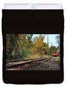 Nickel Plate Train Tracks Duvet Cover