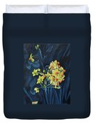 Night And Flowers Duvet Cover