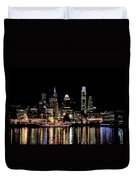 Night At Penn's Landing - Philadelphia Duvet Cover