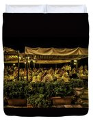 Night At The Cafe - Taormina - Italy Duvet Cover