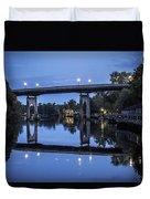 Night Bridge Duvet Cover by Nelson Watkins