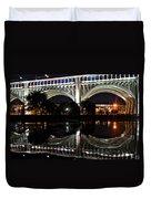 Night Bridge Duvet Cover