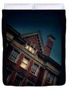 Night Building Duvet Cover