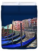 Night Falls In Venice Duvet Cover
