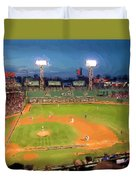 Night Fenway Pop Duvet Cover