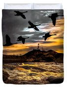 Night Flight Duvet Cover by Bob Orsillo