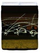 Night Frisbee Duvet Cover