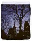 Night Lights Empire State Duvet Cover