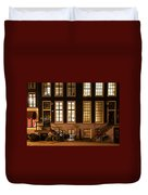 Night Lights In Amsterdam. Holland Duvet Cover