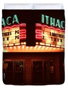 Night Lights Ithaca Theater Duvet Cover