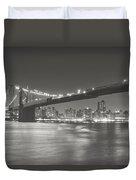 Night - New York City - Brooklyn Bridge Duvet Cover