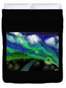 Night Of The Fireflies Duvet Cover