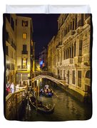 Night On The Canal - Venice - Italy Duvet Cover