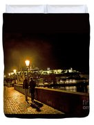 Night On The Charles Bridge Duvet Cover