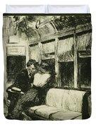 Night On The El Train Duvet Cover by Edward Hopper