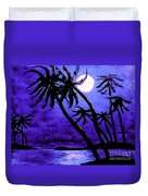 Night On The Islands Painterly Brushstrokes Duvet Cover
