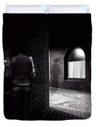Night People Main Street Duvet Cover by Bob Orsillo