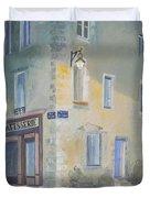Night Scene In Arles France Duvet Cover