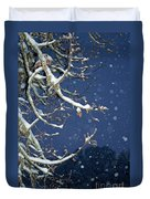 Night Snow Duvet Cover