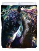 Night Stallion Duvet Cover