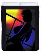 Night Sun Duvet Cover