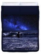 Night Surfing Duvet Cover